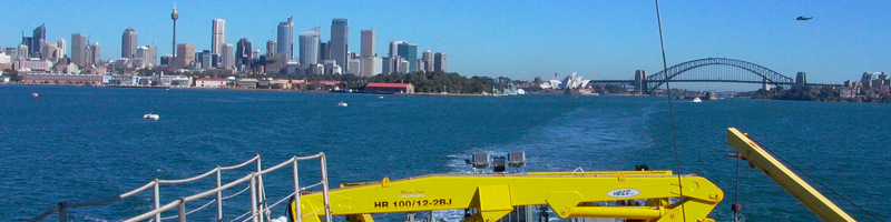 Leaving Sydney on the R.V. Southern Surveyor